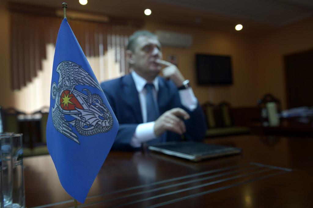 Semisotov fick i senaste valet fick han 61,9 procent av rösterna i  Michajlovka