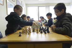 Denis Mandzjiev, 5 till vänster är redan en mycket duktig schackspelare